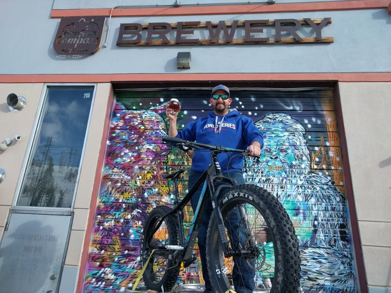Ax from Broken Compass in Breckenridge with a Borealis Fat Bike