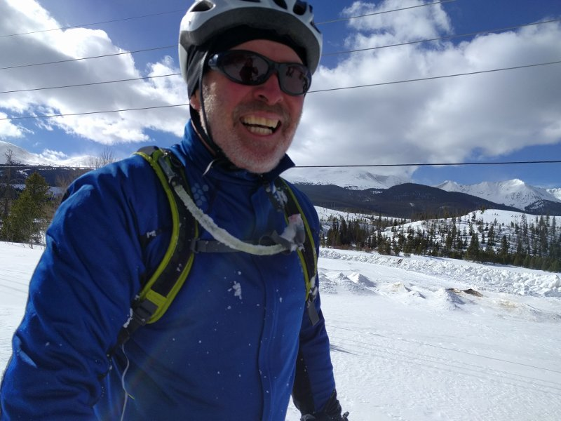 Fat biking makes Larry happy