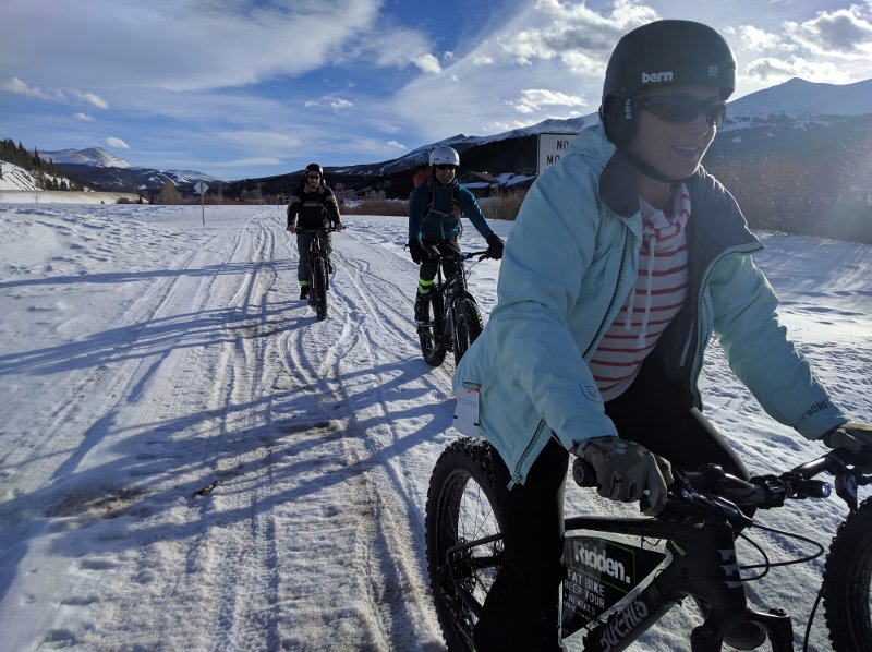 Florida crew on breckenridge broken compass fat bike beer tour