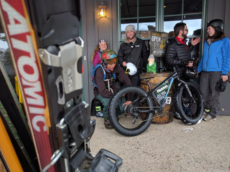 Fat bike tours to the Breckenridge Distillery